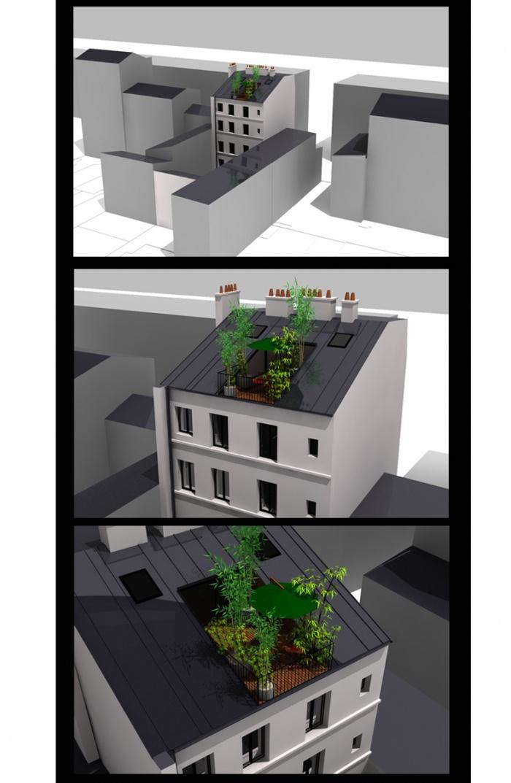 Aménagement des combles appartement Paris