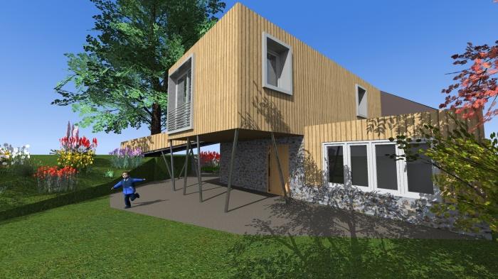 Surélévation d'une maison dans le Cantal