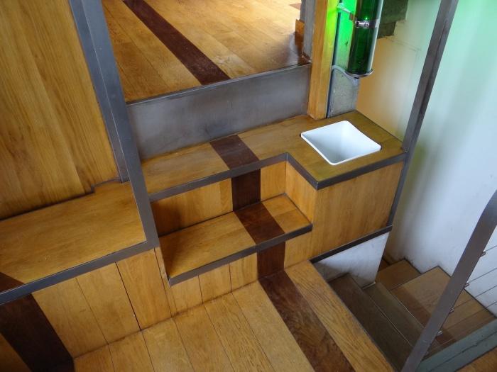Surélevation d'un duplex et création d'une terrasse : escalier