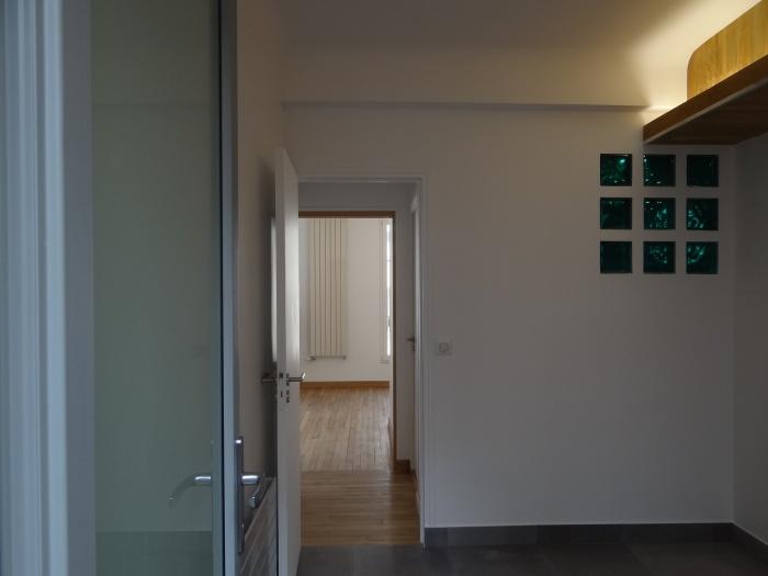 rénovation d'un T2 Paris XIX : chambre