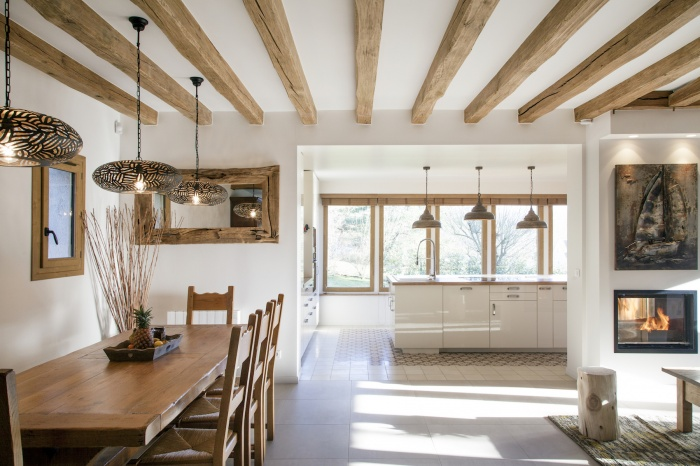 Rénovation d'une maison à la campagne- Rustique et chic