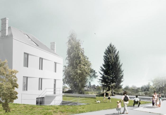 Réhabilitation Maison d'habitation : vue vers église2bis.jpg