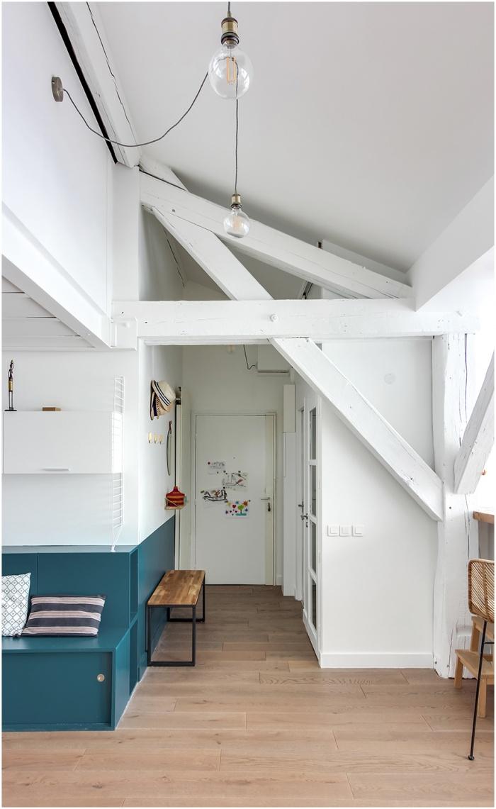 Réaménagement d'un duplex sous les toits