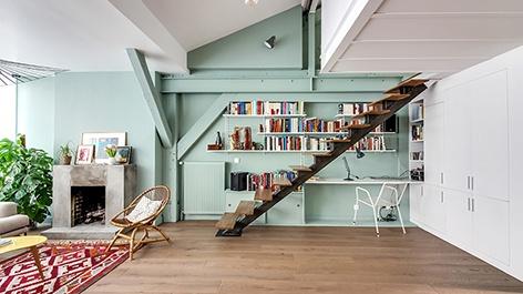 Réaménagement d'un duplex sous les toits : H
