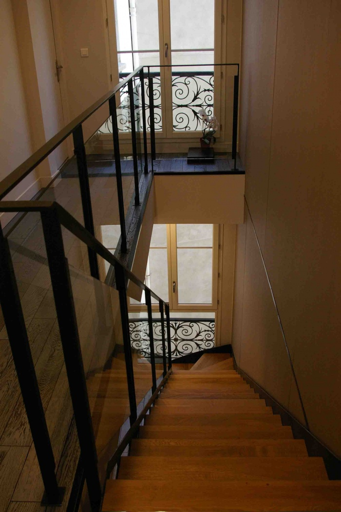 séquence sur escalier