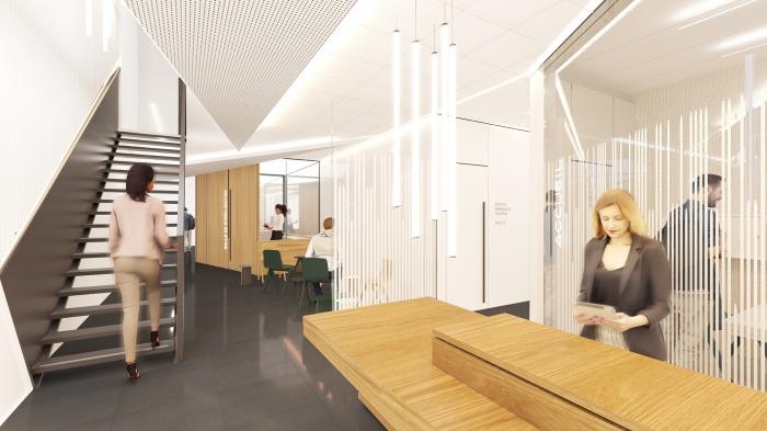 Transformation d'un centre médical + 8 logements - Gagny : 17_0106-SCOP-3D-A32-GAG-C#HD-SOL FONCE
