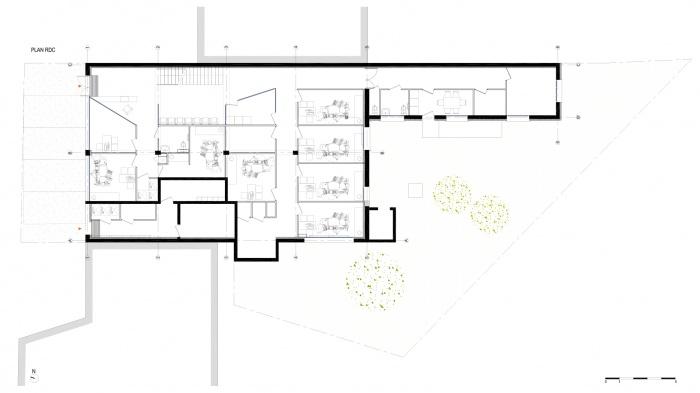 Transformation d'un centre médical + 8 logements - Gagny : A32_GAG_PLAN RDC