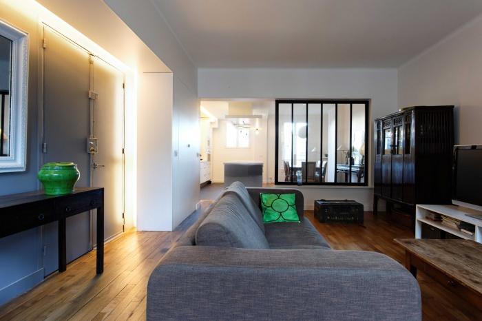Restructuration complète d'un appartement dans un esprit loft