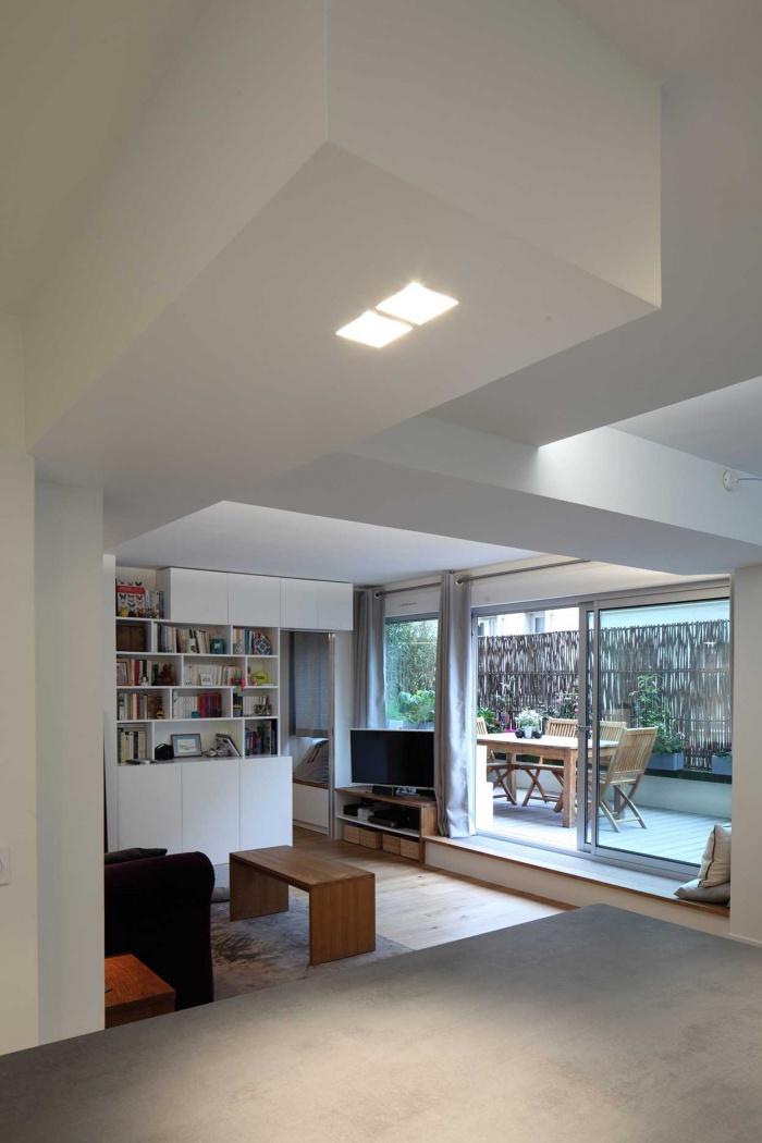 Transformation d'un plateau de bureaux en un appartement familial