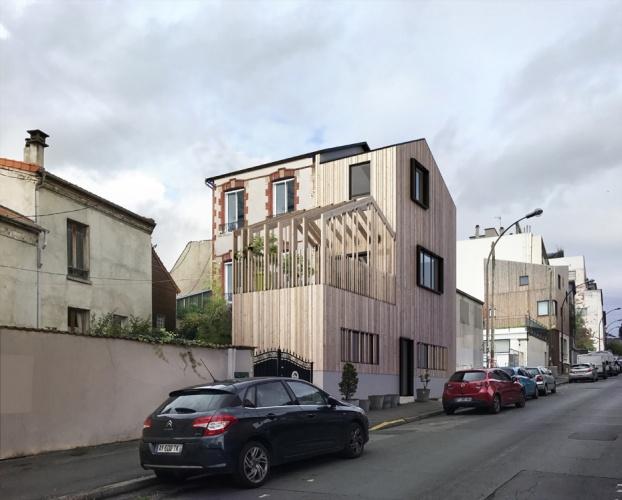 Surélévation d'une maison à Montreuil