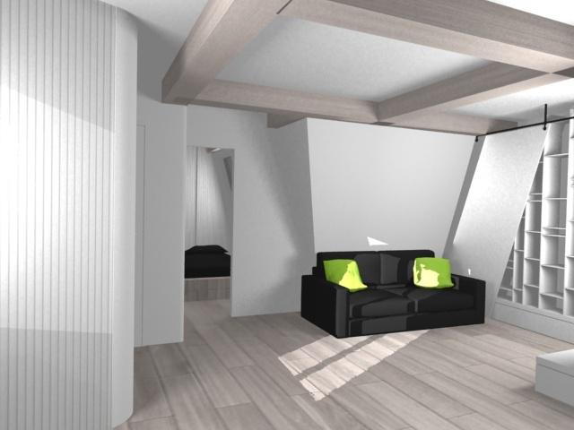 sous les to ts paris 9 me paris une r alisation de nim architecture. Black Bedroom Furniture Sets. Home Design Ideas