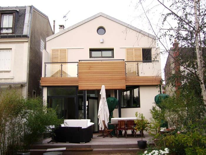 Réhabilitation et extension d'une maison en meuliere - Colombes (92)
