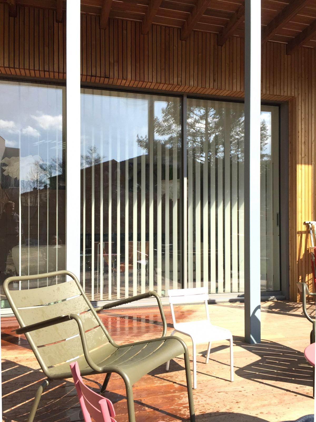 Maison ossature bois : vue coursive