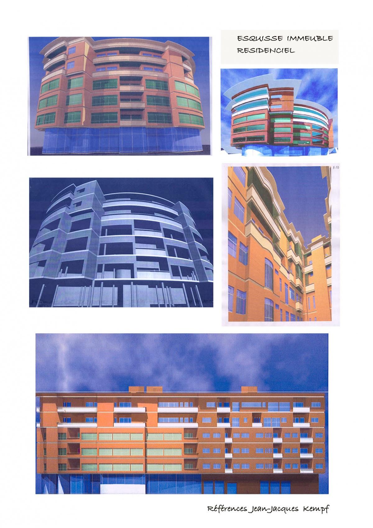 Marina D'Azilah au Maroc : 02-Immeuble Esquisse.MK