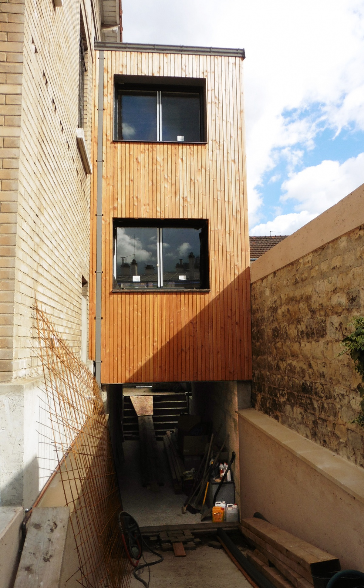 extension maison brique affordable beautiful finest maison neuve rennes mnm architectes rennes. Black Bedroom Furniture Sets. Home Design Ideas