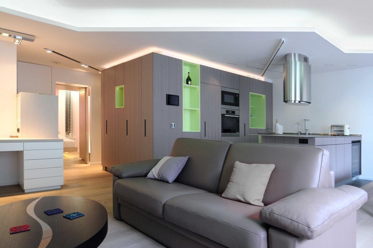 Restructuration d'un appartement autour d'un bloc fonctionnel
