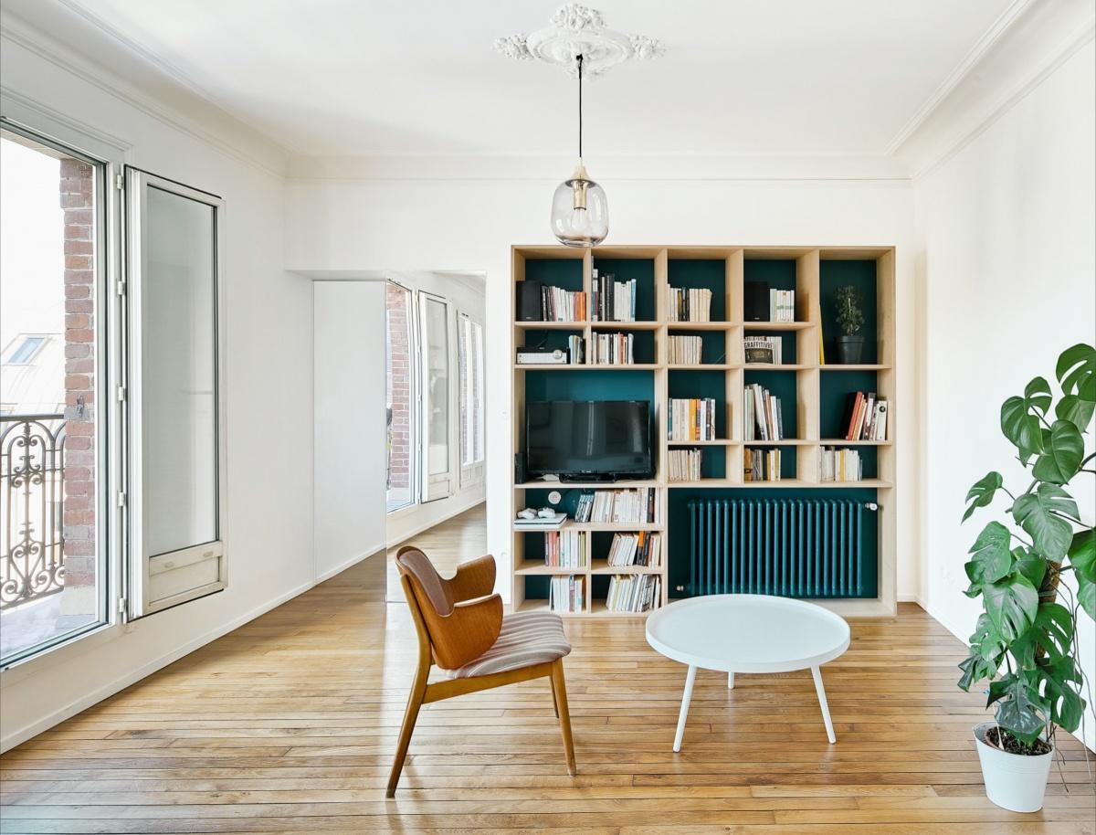 Restructuration et rénovation d'un appartement : 4 rue Hector Malot v2-2163 V5