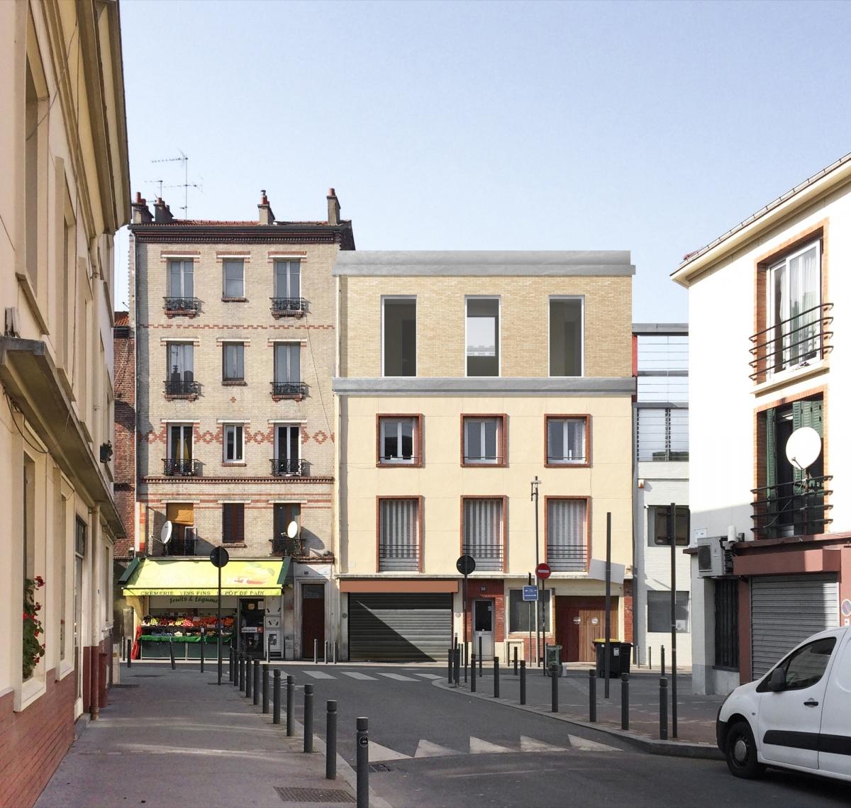 Surélévation pour création d'un duplex avec terrasse