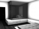 Etude pour une chambre d'hotel design