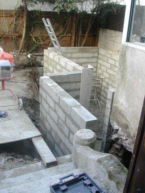 Architectes extension et r am nagement d 39 une maison la gare - Construire cave enterree ...